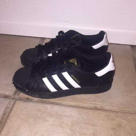 adidas Shoes | Black Shell Toes | Poshmark